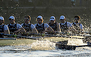 Putney LONDON. Oxford University Boat Club vs German U23 Crew, Pre Boat Race Fixture. Championship Course, River Thames;  Greater London, Saturday  - 08/03/2014  [Mandatory Credit Peter Spurrier/ Intersport Images],<br />
