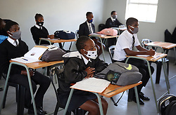 South Africa - Durban - 09 June 2020 -  KwaZulu Natal Premier Sihle Zikalala visited the schools around Durban to monitor whether they are adequate prepared to deal with the Covid 19 pandemic. Most schools reopened their doors to teach and learning for grades 12 and 7 on monday. One of the schools is Ohlange High School in Inanda, Durban.<br /> Picture Motshwari Mofokeng/African News Agency(ANA)