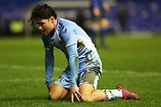 Callum O'Hare on his knees during the The FA Cup third round replay match between Coventry City and Bristol Rovers at the Trillion Trophy Stadium, Birmingham, England on 14 January 2020.
