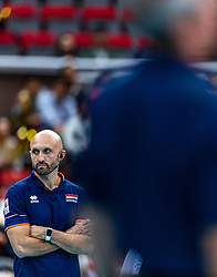 15-10-2018 JPN: World Championship Volleyball Women day 16, Nagoya<br /> Netherlands - USA 3-2 / Coach Jamie Morrison of Netherlands