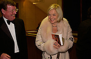 David Trimble and Mariella Frostrop, The Man Booker prize awards ceremony 2004 . The Royal Horticultural Hall, 19 October 2004. ONE TIME USE ONLY - DO NOT ARCHIVE  © Copyright Photograph by Dafydd Jones 66 Stockwell Park Rd. London SW9 0DA Tel 020 7733 0108 www.dafjones.com