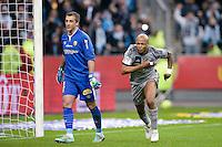 Joie Andre AYEW - 22.03.2015 - Lens / Marseille - 30eme journee de Ligue 1<br />Photo : Andre Ferreira / Icon Sport