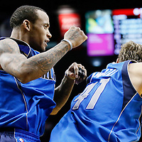 07 December 2013: Dallas Mavericks shooting guard Monta Ellis (11) celebrates his game winning shot at the buzzer with 1.9 second remaining with Dallas Mavericks shooting guard Monta Ellis (11) during the Dallas Mavericks 108-106 victory over the Portland Trail Blazers at the Moda Center, Portland, Oregon, USA.