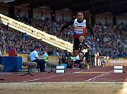 Jean-Marc Pontvianne of France compete in the mens Triple jump during the Sainsbury's Birmingham Grand Prix IAAF Diamond League Meeting at Alexandra Stadium, Birmingham, West Midlands, England on June  07  2015. (Steve Flynn/Image of Sport)