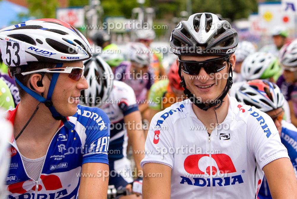 Jure Zagar and Grega Bole at Slovenian National Championships in Road cycling, 178 km, on June 28 2009, in Mirna Pec, Slovenia. (Photo by Vid Ponikvar / Sportida)