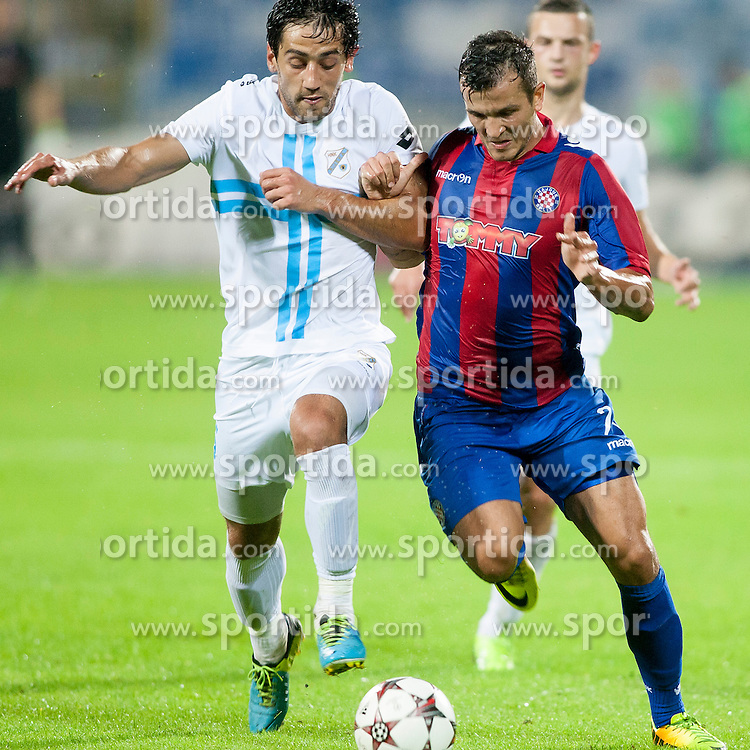 Haris Bukva #21 of HNK Hajduk Split during football match between HNK Rijeka and HNK Hajduk Split in 11th Round of Prva Hrvaska Nogometna Liga MaxTV 2013/14 on September 28, 2013 in Stadion Kantrida, Rijeka, Croatia. (Photo By Urban Urbanc / Sportida.com)