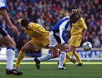 Fotball: Blackburn Tugay and Leeds Harry Kewell.