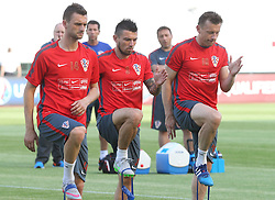11.06.2015, Stadion Poljud, Split, CRO, UEFA Euro 2016 Qualifikation, Kroatien vs Italien, Gruppe H, Training Kroatien, im Bild Marcelo Brozovic, Danijel Pranjic, Ivica Olic // during trainig of Team Croatia prior to the UEFA EURO 2016 qualifier group H match between Croatia and and Italy at the Stadion Poljud in Split, Croatia on 2015/06/11. EXPA Pictures © 2015, PhotoCredit: EXPA/ Pixsell/ Ivo Cagalj<br /> <br /> *****ATTENTION - for AUT, SLO, SUI, SWE, ITA, FRA only*****