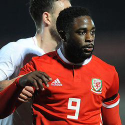 19/3/2019 - Goalscorer Kayne McLaggon(Barry Town United) during the C International between England and Wales at the Peninsula Stadium, Salford.<br /> <br /> Pic: Mike Sheridan/County Times<br /> MS023-2019