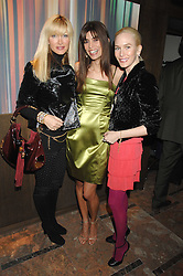Left to right, CAPRICE BOURET,  LISA B and NORMANDIE KEITH at a party to celebrate the publication of Lisa B's book 'Lifestyle Essentials' held at the Cook Book Cafe, Intercontinental Hotel, Park Lane London on 10th April 2008.<br />