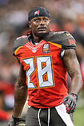 NEW ORLEANS, LA - SEPTEMBER 20:  Tim Jennings #28 of the Tampa Bay Buccaneers walks off the field during a game against the New Orleans Saints at Mercedes-Benz Superdome on September 20, 2015 in New Orleans Louisiana.  The Buccaneers defeated the Saints 26-19.  (Photo by Wesley Hitt/Getty Images) *** Local Caption *** Tim Jennings