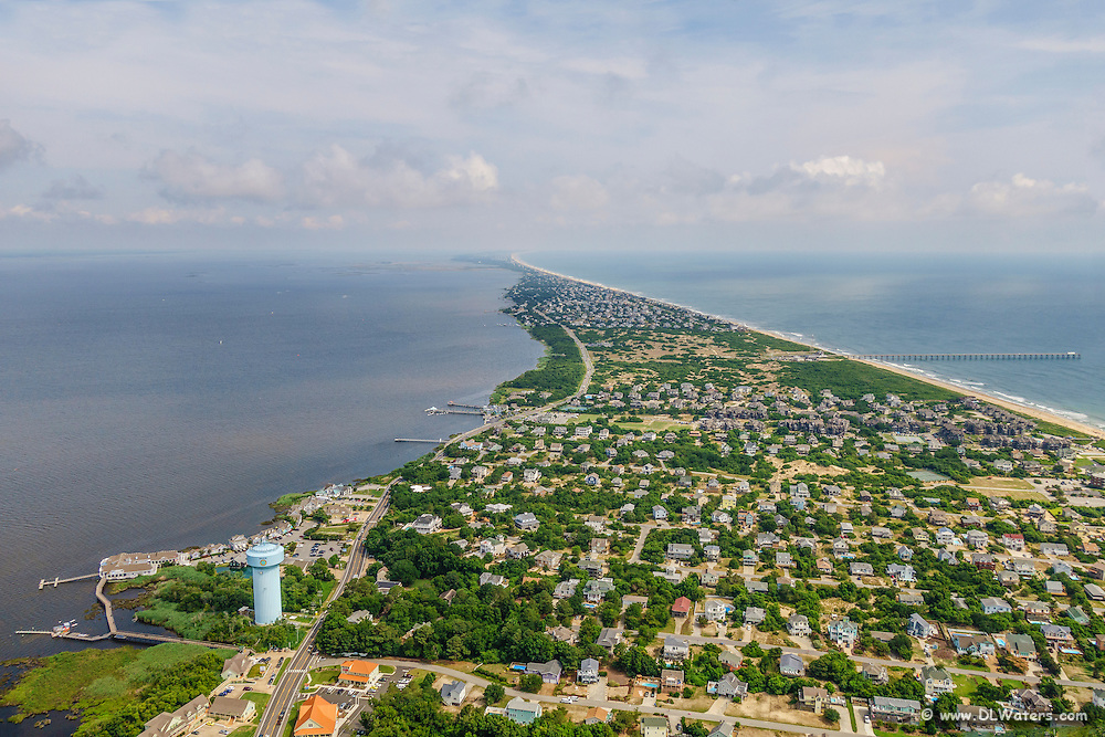 Aerial photo of Duck, NC on the Outer Banks.