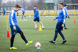 Marko Alvir and Kristjan Sipek during Training of NK Domzale, on January 10, 2018 in Sports park Domzale, Domzale, Slovenia. Photo by Ziga Zupan / Sportida