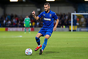 AFC Wimbledon attacker Shane McLoughlin (19) dribbling during the Pre-Season Friendly match between AFC Wimbledon and Crystal Palace at the Cherry Red Records Stadium, Kingston, England on 30 July 2019.
