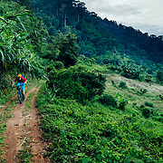 Andrew Whiteford rides single track through the jungle near Chiang Mai, Thailand.