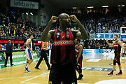 Simmons Jeremy<br /> De'Longhi Treviso vs Openjobmetis Varese<br /> Legabasket SerieA 2019-2020<br /> Treviso (TV), 05/01/2020<br /> Foto  Ciamillo-Castoria <br /> Esultanza