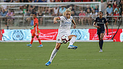 Olympique Lyonnais forward Ada Hegerberg (14) receives a pass in a game against the North Carolina Courage during an International Champions Cup women's soccer game, Sunday, Aug. 18, 2019, in Cary, Olympique Lyonnais bested the North Carolina Courage 1-0 in the finals.  (Brian Villanueva/Image of Sport)