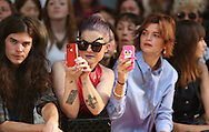 LONDON, ENGLAND - SEPTEMBER 15:  (l-r) Kelly Osbourne and Pixie Geldof attend the front row for the House Of Holland show on day 2 of London Fashion Week Spring/Summer 2013, at Brewer St Car Park on September 15, 2012 in London, England.  (Photo by Tim Whitby/Getty Images)