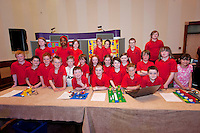 Young engineers and Scientists from all over county Galway including pupils from Gardenfields National School at the Medtronic Junior FIRST LEGO League organised by Galway Education Centre in the Radisson Blu Hotel Galway. This year the theme was 'Super Seniors' where pupils 6 to 9 years of age had to research problems for adults over 60 and invent a solution.<br /> . Picture:Andrew Downes