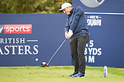 Francesco Molinari of Italy tees off on the 6th during the British Masters 2018 at Walton Heath Golf Course, Walton On the Hill, Surrey  on 11 October 2018. Picture by Martin Cole.