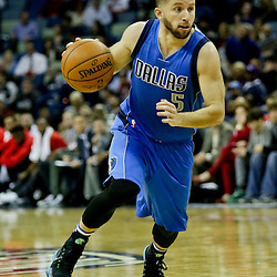 Jan 6, 2016; New Orleans, LA, USA; Dallas Mavericks guard J.J. Barea (5) drives against the New Orleans Pelicans during the second quarter of a game at the Smoothie King Center. Mandatory Credit: Derick E. Hingle-USA TODAY Sports