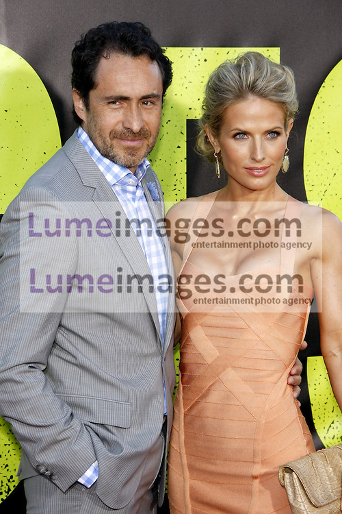 "Demian Bichir and Stefanie Sherk at the Los Angeles premiere of 'Savages"" held at the Mann Village Theatre in Westwood on June 25, 2012. Credit: Lumeimages.com"