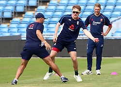 England's Dom Bess during a nets session at Headingley, Leeds.