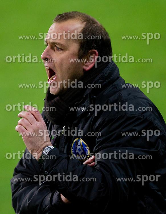 Damijan Romih, coach of Celje during football match between NK Olimpija Ljubljana and CM Celje of 19th Round of PrvaLiga 2011/2012, on November 23, 2011 in SRC Stozice, Ljubljana, Slovenia.  (Photo By Vid Ponikvar / Sportida.com)