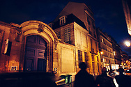Marais at night. Paris.