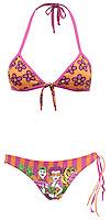 poco pano bikini pink and orange