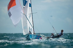 2012 Olympic Games London / Weymouth<br /> 470 men race course<br /> Brauchli Yannick, Hausser Romuald, (SUI, 470 Men)