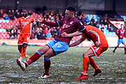 Scunthorpe United forward Kyle Wootton (29)  during the EFL Sky Bet League 1 match between Scunthorpe United and Shrewsbury Town at Glanford Park, Scunthorpe, England on 17 March 2018. Picture by Mick Atkins.