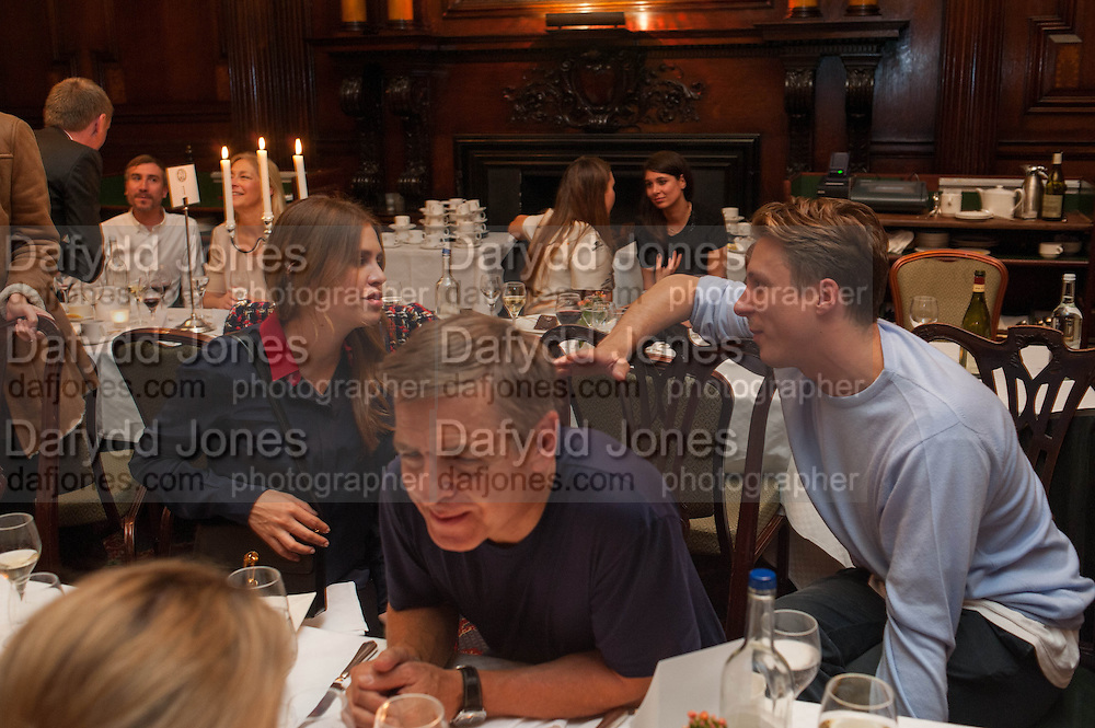 DASHA ZHUKOVA; ANDREAS GURSKY; CYPRIEN GAILLARD, Opening of Morris Lewis: Cyprien Gaillard. From Wings to Fins, Sprüth Magers London Grafton St. London. Afterwards dinner at Simpson's-in-the-Strand hosted by Monika Spruth and Philomene Magers.