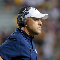 Aug 31, 2019; Baton Rouge, LA, USA; Georgia Southern Eagles head coach Chad Lunsford during the second half against the LSU Tigers at Tiger Stadium. Mandatory Credit: Derick E. Hingle-USA TODAY Sports