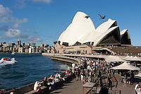 Jorn Utzon opera and the opera bar, Sydney, Australia. January 2nd-11th 2007