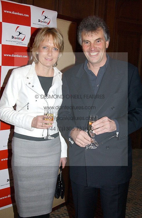 NIGEL & LINDA WRAY he owns Saracens Rugby Club at a dinner hosted by footballer Patrick Vieira and the Diambars UK Charital Trust at The Landmark Hotel, 222 Marylebone Road, London NW1 on 3rd February 2005.<br />