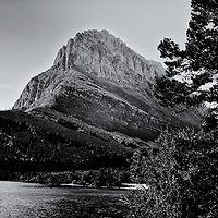 Many Glacier Mountain 2<br /> converted to B&amp;W 1/23/14