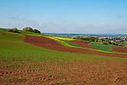 Landschaft im Frühling, Köllertal, Saarland, Deutschland