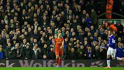 28.01.2014, Anfield, Liverpool, ENG, Premier League, FC Liverpool vs FC Everton, 23. Runde, im Bild Everton fans shouting at Luis Suarez, action against Everton // during the English Premier League 23th round match between Liverpool FC and Everton FC at Anfield in Liverpool, Great Britain on 2014/01/29. EXPA Pictures &copy; 2014, PhotoCredit: EXPA/ Propagandaphoto/ David Rawcliffe<br /> <br /> *****ATTENTION - OUT of ENG, GBR*****
