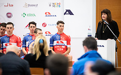 Mojca Novak during press conference of Continental Cycling team KK Adria Mobil before new season 2020, on February 17, 2020 in Cesca vas, Novo mesto, Slovenia. Photo by Vid Ponikvar / Sportida