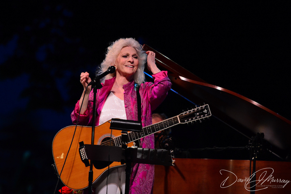 Judy Collins performs in a Prescott Park Arts Festival presentation at Prescott Park in Portsmouth, NH, in August 2013