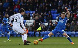 Kyle Dempsey of Peterborough United tackles Jordan Williams of Rochdale - Mandatory by-line: Joe Dent/JMP - 12/01/2019 - FOOTBALL - ABAX Stadium - Peterborough, England - Peterborough United v Rochdale - Sky Bet League One