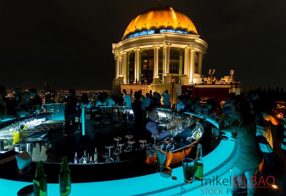 Sky bar. State Tower.  Bangkok, Thailand.