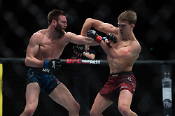 March 16, 2019 - London, United Kingdom - Arnold Allen beats Jordan Rinaldi by unanimous decision during UFC Fight Night 147 at the London O2 Arena, Greenwich on Saturday 16th March 2019. (Credit Image: © Mi News/NurPhoto via ZUMA Press)