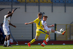 Lovro Bizjak of NK Domzale during football match between NK Domzale and NK Celje in Round #20 of Prva liga Telekom Slovenije 2017/18, on April 18, 2018 in Sports Park Domzale, Domzale, Slovenia. Photo by Urban Urbanc / Sportida