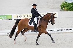 Lars Petersen, (DEN), Mariett - Grand Prix Team Competition Dressage - Alltech FEI World Equestrian Games™ 2014 - Normandy, France.<br /> © Hippo Foto Team - Leanjo de Koster<br /> 25/06/14