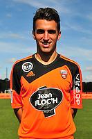 Yann Jouffre - 25.09.2014 - Photo officielle Lorient - Ligue 1 2014/2015<br /> Photo : Philippe Le Brech / Icon Sport