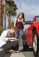 Couple Having Car Problems