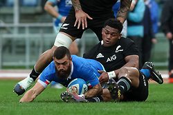 November 24, 2018 - Rome, Rome, Italy - Jayden Hayward during the Test Match 2018 between Italy and New Zealand at Stadio Olimpico on November 24, 2018 in Rome, Italy. (Credit Image: © Emmanuele Ciancaglini/NurPhoto via ZUMA Press)