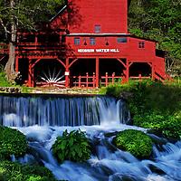 Hodgson Mill in spring, Ozark County, Missouri